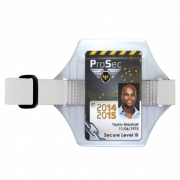 Brassard pour badge sangle blanche